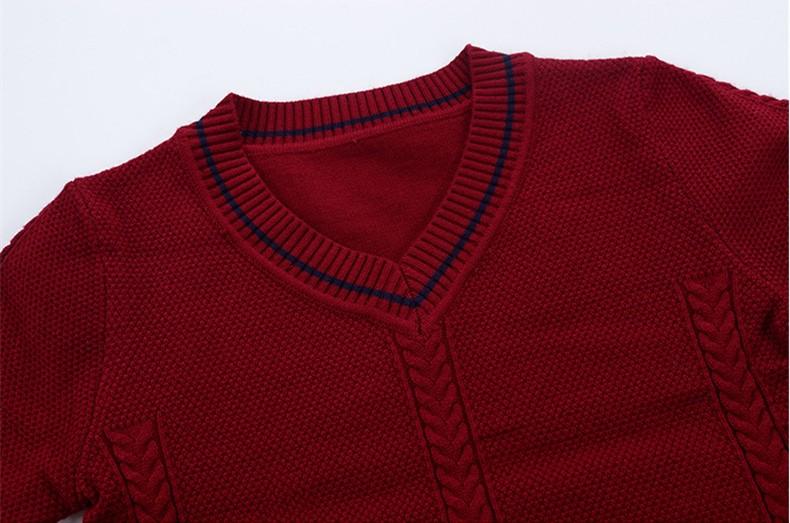 HTB13o6OOXXXXXayXFXXq6xXFXXXW - 2017 Children's sweater Winter new  Keep warm Cashmere boy sweater V-collar Kids for boys Children's clothing Winter clothing