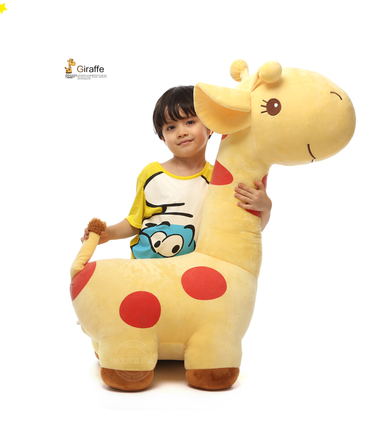 huge 80cm giraffe cartoon spotted giraffe stuffing plush toy doll birthday gift b5046 the huge lovely hippo toy plush doll cartoon hippo doll gift toy about 160cm pink