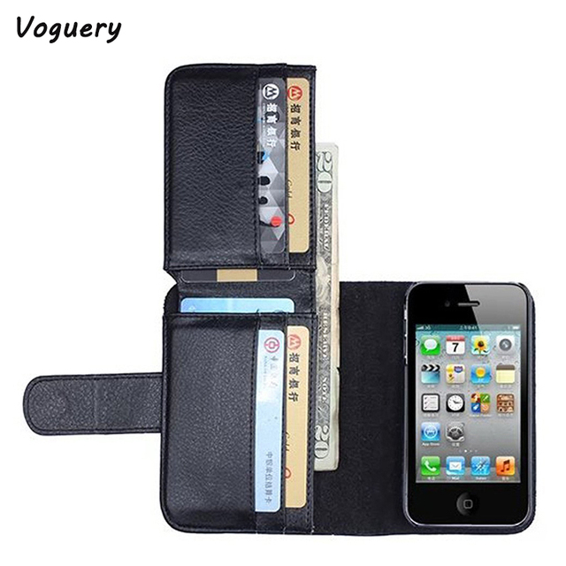 low priced fbd35 44e82 US $7.99 10% OFF|Voguery Card Holder Flip Wallet Leather Case Cover for  Apple iPhone 5s 5 SE 6 6s 7 8 Plus Flip Wallet Multi Card Slot Phone  Case-in ...