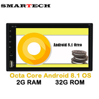 SMARTECH 2Din Octa Core Android 8 1 Tape Recorder 2 Din Universal For Nissan GPS Navigation