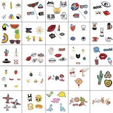 Fashion Women Lapel Pins Collar Pins Enamel Alloy Brooch Jewelry Accessories Cute Cartton Animal Brooches Set Wholesale