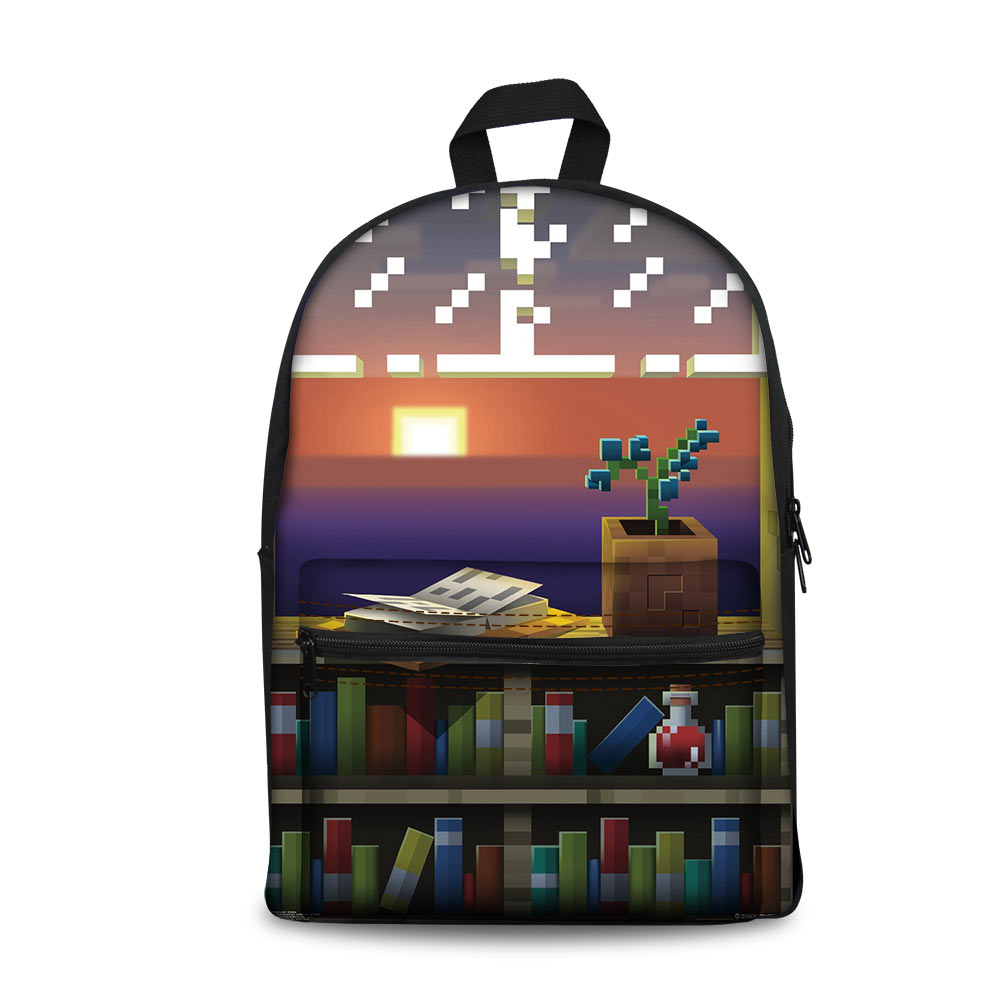 цена на School Bags Boys Girlsokul Cantalari Children school supplies Mochila Backpack Action Toy Figure Printing Minecraft Backpack