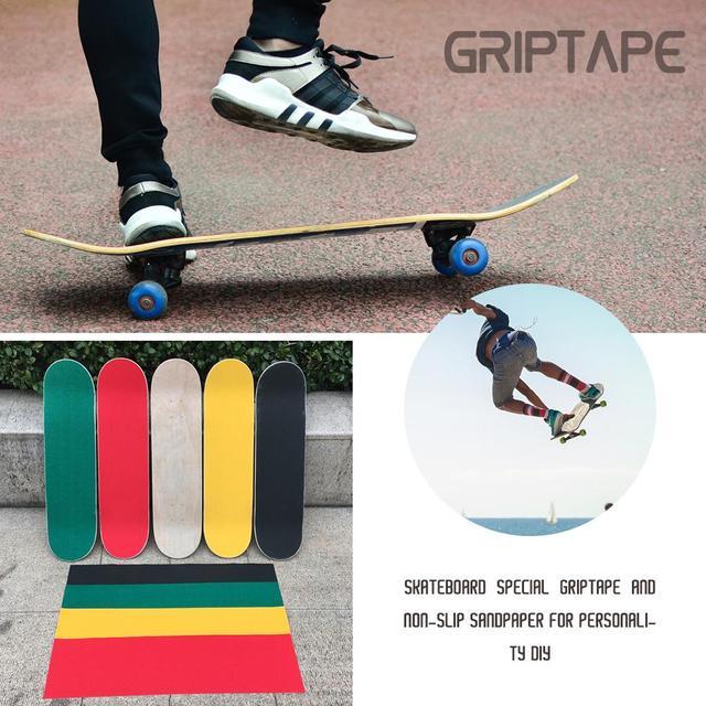 84*23cm Wear-Resistant Thickening Skateboard 4 Wheel Sandpaper Griptape Large Deck Sandpaper Griptape For Skateboarding 4