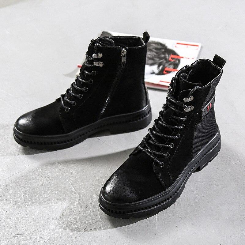 Casual Chaussures Noir En Chaud Équitation Haut Cuir Martin Militaire De Hiver Hommes Épais Nouveau Équestre Bottes Sécurité dessus Automne S7vUqwxxd