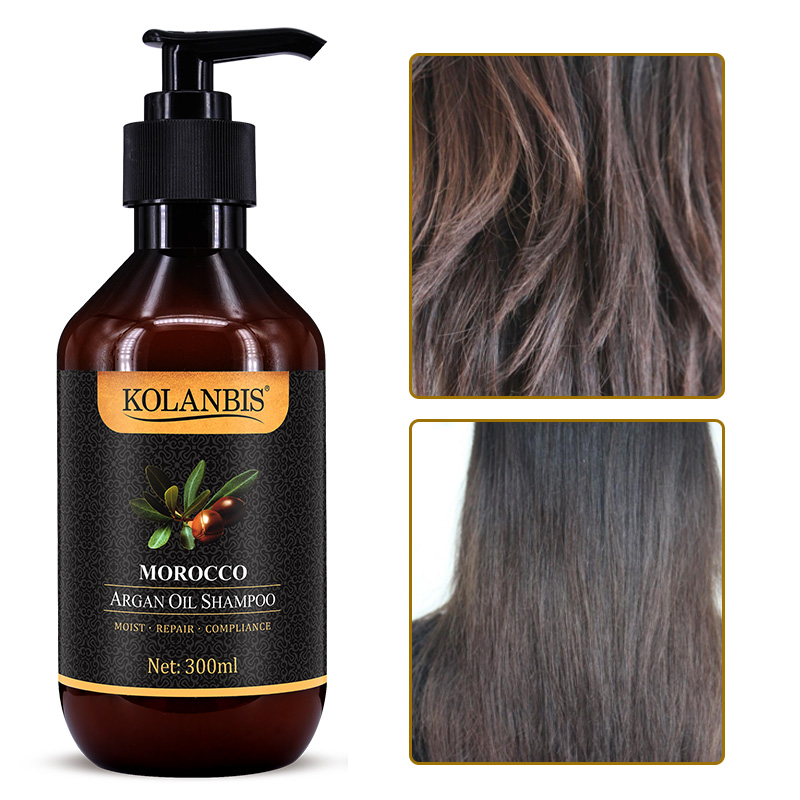 Morocco argan oil nutrition keratin shampoo for dry frizz hair split ends damage protein treatment 3