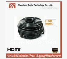 Envío Libre + 20 M + Negro + FullHD 1080 p v1.3B 24AWG HDMI PARA Tvad TV PROYECTOR + venta al por mayor