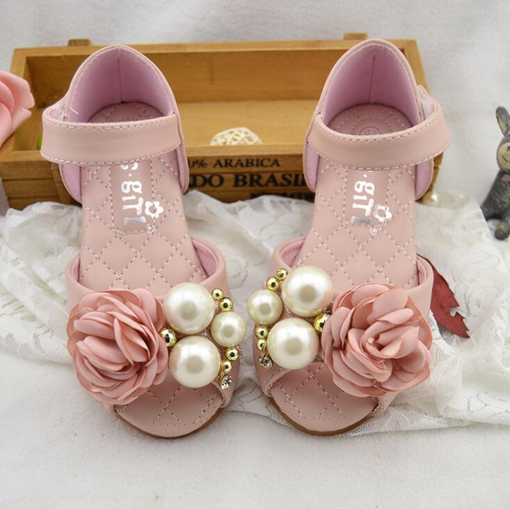 Genuine Leather Children Girls Shoes Summer Girls Sandals Leather Princess Shoes For Kids Sandals Girls Leather Shoes EU 24-34