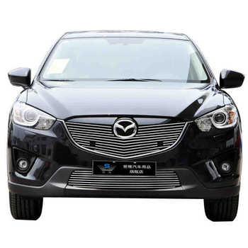 Untuk Mazda CX-5 2012 2013 2014 Depan Racing Grill Grille Sampul Potong Kualitas Tinggi Baru Aluminium Alloy