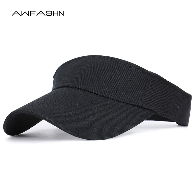 2019 Spring Summer Sports Sun Cap Men Women Adjustable Cotton Visor UV Protection Top Empty Tennis Golf Running Sunscreen Hat