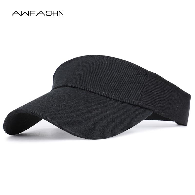 2019 Spring Summer Sports Sun Cap Men Women Adjustable Cotton Visor UV Protection Top Empty Tennis Golf Running Sunscreen Hat