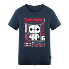 2016 Newest Style Funny Design Big Hero 6 Baymax T Shirt Men Women Popular Movie Printed T-shirt Tee Tops