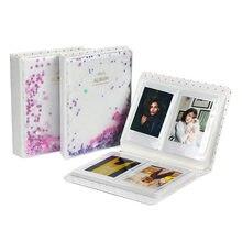 Fujifilm Instax Mini-álbum de fotos con 64 bolsillos, Mini película de 3 pulgadas, cuentas de arena movediza, soporte para Tarjeta De Nombre de cámara, 9, 8, 7s, 90, 70, 25