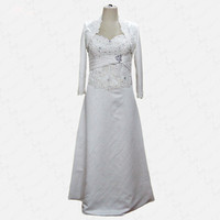 RSE241 Elegant Heavy Beaded Evening Gown Satin Bolero Mother Of The Bride Dresses With Jacket Plus Size