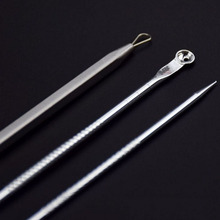 Comedone Extractor Stainless Needles Antibacterial Acne Cleansing Cleaning Removal Ear Care Tools 3Pcs/set