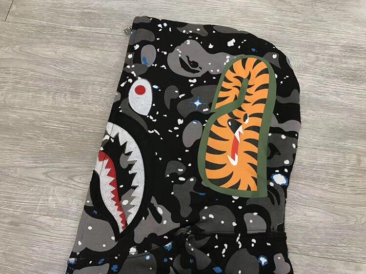 Bape толстовка с капюшоном Акула кофты bape брендовая оригинальная AAPE By A bathing ape