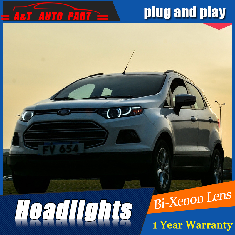 Car Styling For Ford Ecosport Headlight Assembly For Ecosport Led Head Lamp Angel Eye Led Front Light H With Hid Kit Pcs In Car Light Assembly From