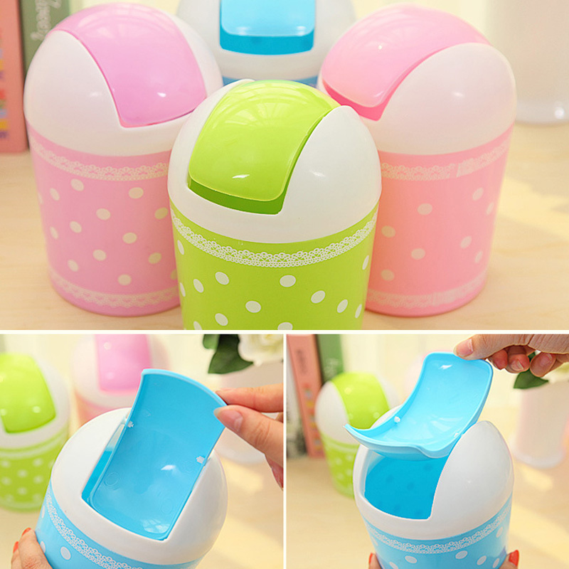 0cbc7074a Cute Plastic Mini Trash Basket Garbage Can Desktop Wastebasket Workshop Bin  Hogard JY06-in Waste Bins from Home   Garden on Aliexpress.com