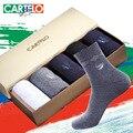 Cartelo marca otoño hombres calientes calcetines medias masculinas negocio de los hombres calcetines de algodón que absorbe