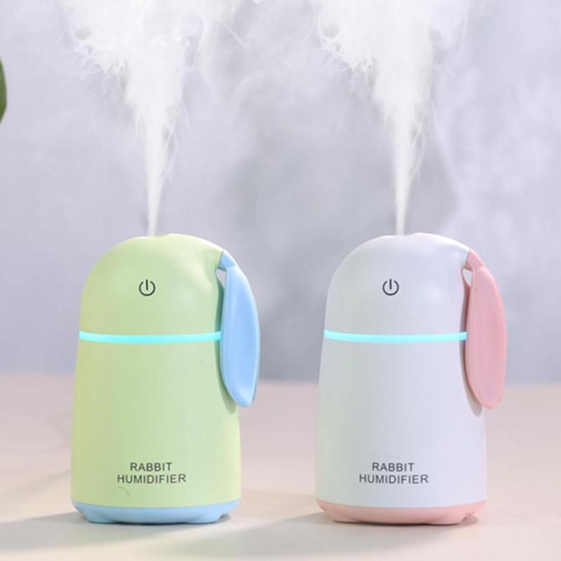 170ml USB Cute Rabbit Shape Air Ultrasonic Aroma Humidifier Mist Sprayer Air Purifier Freshener Home Office Desktop Atomizer