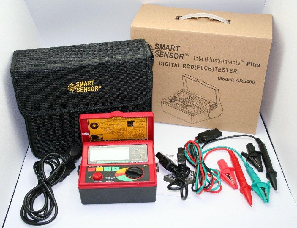 Équipement d'essai automatique AR5406 de mètre d'essai d'appareil de contrôle de RCD ELCB numérique