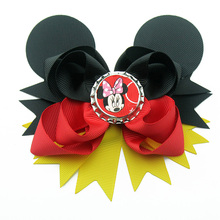 5 inch Mickey Mouse Hair Bow Disney Club Multicolored accessories