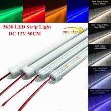 50 cm 5630(5730) Led Strip Light Hard bar Aluminum shell channel Milky Clear PC Cover End Cap DC 12 V 0.5 m 36LED Lighting Lamp