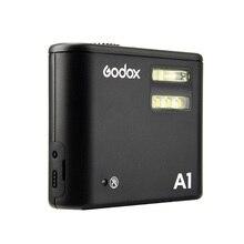 Godox luz do flash portátil luz móvel A1 compatível com 2.4G e 433 HZ função de transmissão sem fio Para O IPHONE 7/7 P/6 S/6BP