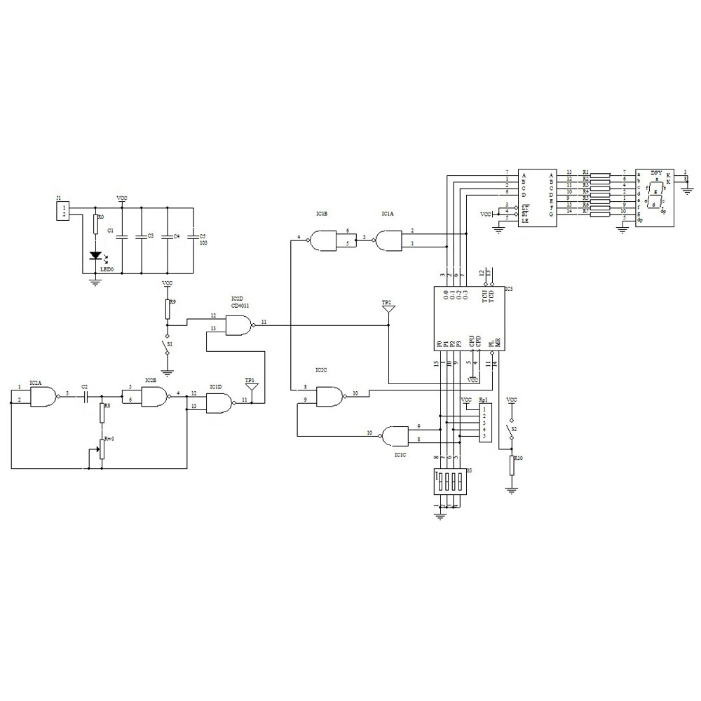 D71c6 74ls192 Puter Controller 4 Dc Motors Circuit Wiring Diagram Wiring Library