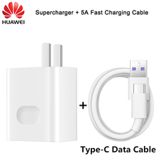 HUAWEI Supercharge 5V 4.5A 4.5V 5A USB fast charger charging with 3.1 TYPE C Data cable for P10 P20 P30 Pro Mate 9 10 20