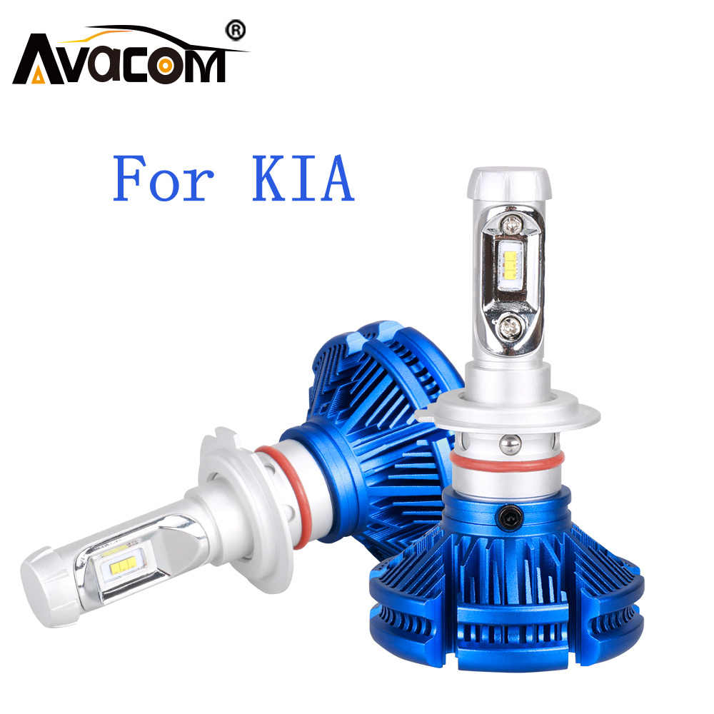 LED Car Headlight Bulb H4 H7 H11/H8/H9 H1 12V 24V ZES LED Auto Lamp For KIA Rio Ceed Sportage Soul Sorento Sedona Optima Pregio