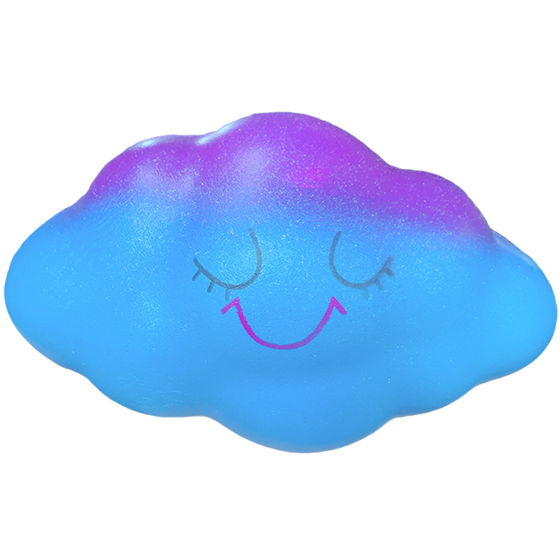 Jumbo Galaxy Colorful Cloud Squeeze Toy Slow Rising Squishy Soft Cute Scented Sweet Stress Relief Funny Gift Toy For Children