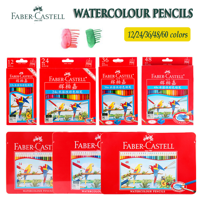 Faber Castell Watercolor Colouring Pencils 12/24/36/48 for kids Students Artists Water Soluble Colored Pencil Set Drawing SketchFaber Castell Watercolor Colouring Pencils 12/24/36/48 for kids Students Artists Water Soluble Colored Pencil Set Drawing Sketch