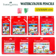 Faber Castell Watercolor Colouring Pencils 12/24/36/48 for kids Students Artists Water Soluble Colored Pencil Set Drawing Sketch deli wooden colored pencils set soluble pencil for kids drawing pencils sketch artists painting supplies 12 18 24 36 colors box