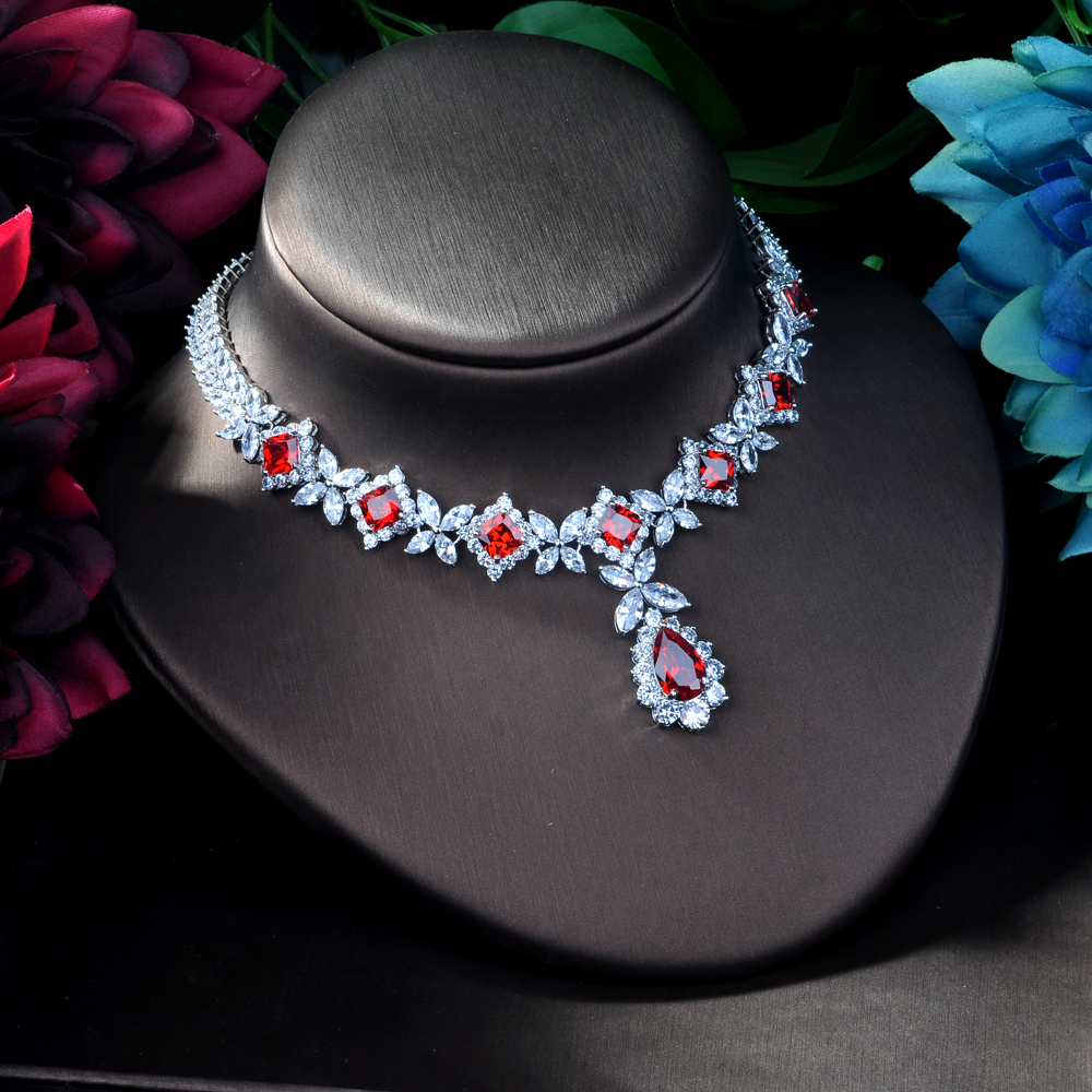 Image 5 - HIBRIDE Hotsale African 4pcs Bridal Jewelry Sets New Fashion 
