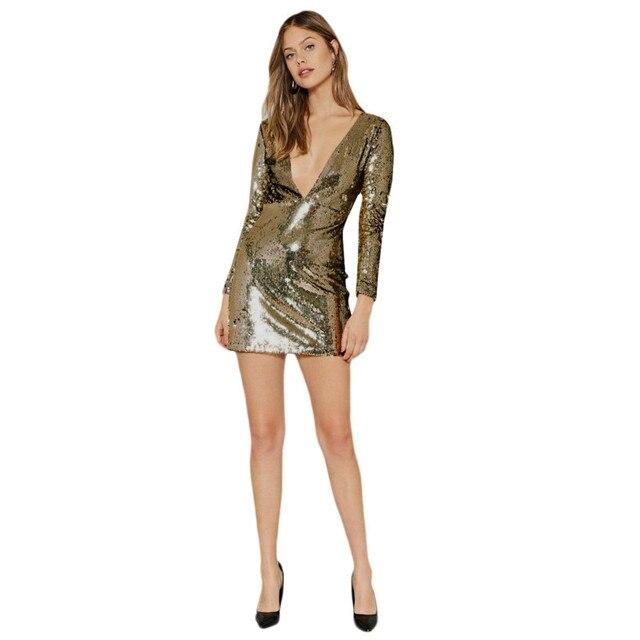 MUXU sexy gold sequin dress kleider women clothing fashion sukienka jurken vestidos  patchwork bodycon glitter dress long sleeve 1e0bc6e77aaf