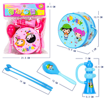 Baby musical drum toy for Children Rattle Kids tambourine instrument Educational gift bell noise maker infantiles Hand Clapper
