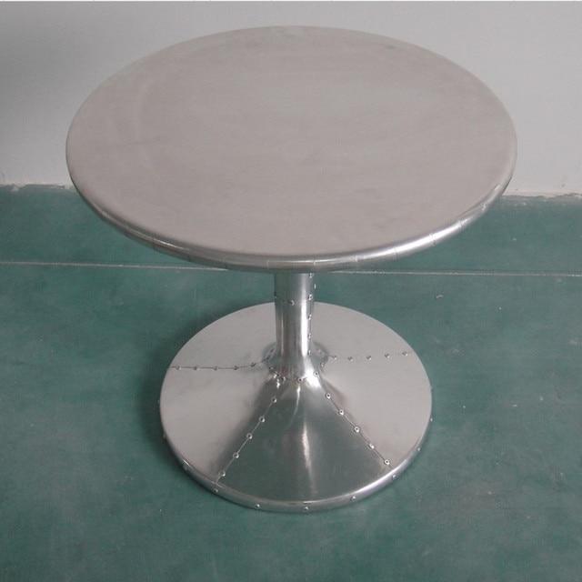 Tulip Aluminum Skin Small Table IKEA Coffee Table Casual Modern Minimalist  Living Room Sofa A Few