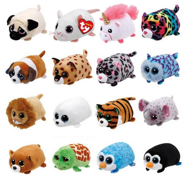 Stuffed & Plush Animals Dolls & Stuffed Toys Trustful Ty Beanie Boo Teeny Tys Plush Icy The Seal 9cm Ty Beanie Boos Big Eyes Plush Toy Doll Purple Panda Baby Kids Gift Mini Toys
