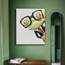 Watercolor Frog Animals Print Canvas Home Decor Wall Art Oil Painting Pictures Postesrs for Living Room Bedroom Decoration