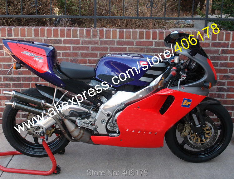Hot Sales,RS250 Aftermarket fairings For Aprilia RS250 95-97 RS 250 1995-1997 1995 1996 1997 Red Blue ABS Bodywork MotorBike kit
