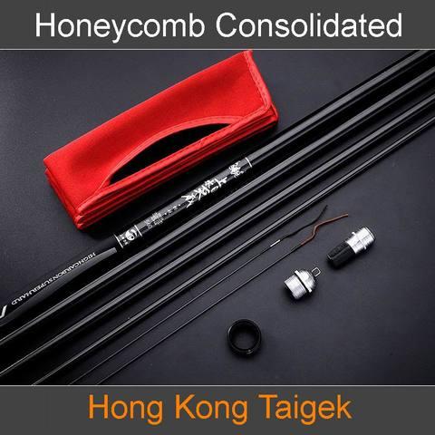 taigek favo de mel consolidado superlight superhard vara de pesca telescopica alta qualidade fibra carbono