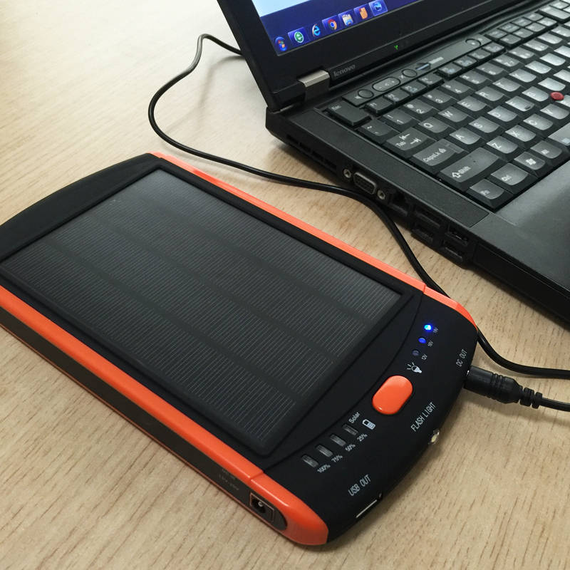 Hot High Power 23000mAh Charger Laptop Backup Power Large Capacity Solar External Battery 5V 12V 16V