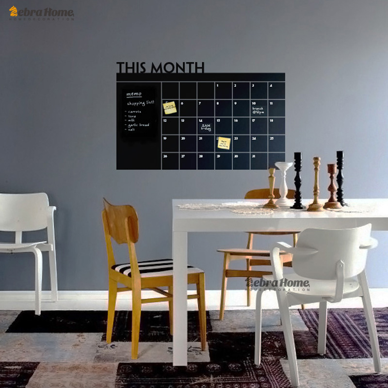 Aliexpress.com : Buy Diy Monthly Planner Chalkboard Vinyl Wall Calendar Decals  Stickers Murals Wallpaper Removable Memo 60x92CM Vinily Home Decor From ...