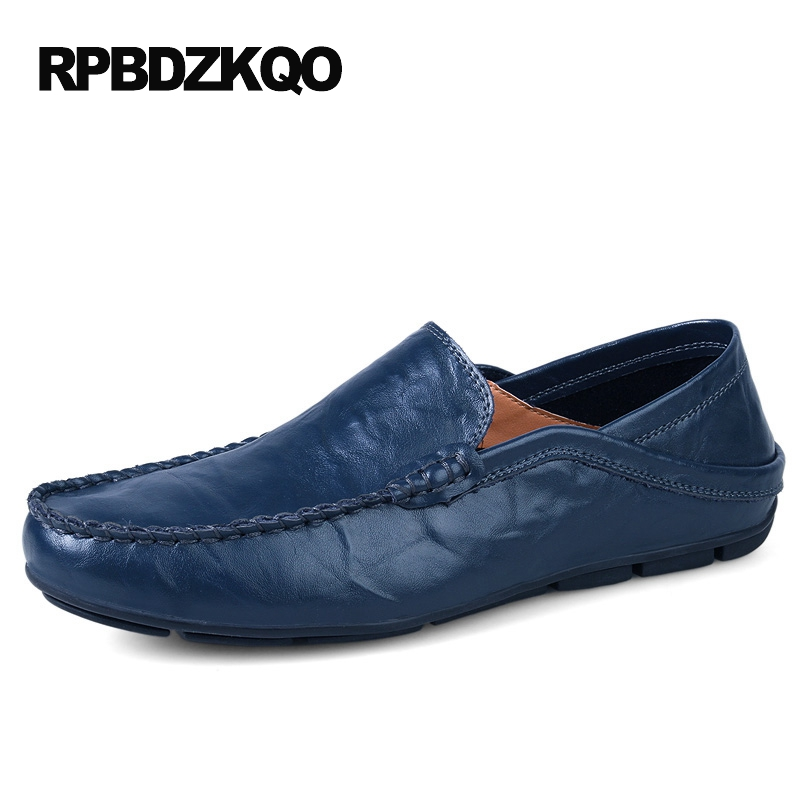 Spring Men Summer Hollow Leather Shoes Casual Brown Driving Blue Tan Loafers Moccasins British Style Slip On Breathable new men leather driving moccasins shoes british hollow men s slip on loafers summer flats men shoes casual comfy breathable