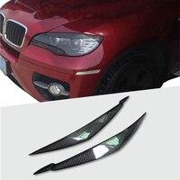 Sobrancelhas de faróis de fibra de carbono  pálpebras traseiras para bmw e71 x6 x6m  estilização de carro  acessórios para guarnição  100%