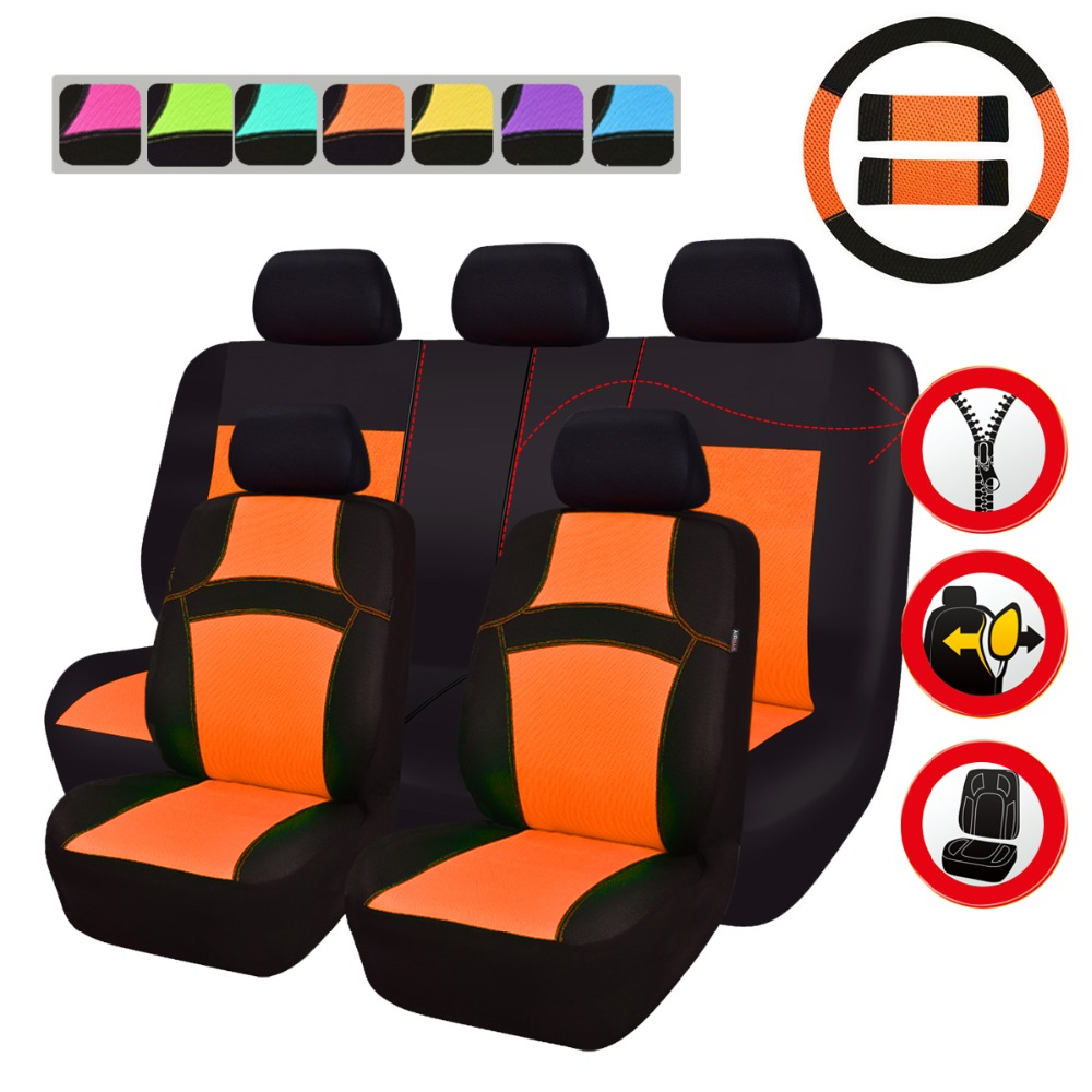 Car-pass Car Seat Covers Full Seat 6 Colors Universal Fit Most Car Seat Covers Car Accessories For Toyota BMW Nissan Hyundai 2 pcs leather car seat covers for lifan solano x50 x60 320 seat covers car accessories styling