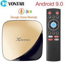 Vontar Android 9.0 TV Box 4GB RAM 128GB 2GB 16GB X88 Pro Google Voice Assistant Rockchip RK3318 Quad Core WIFI YouTube 4K(China)
