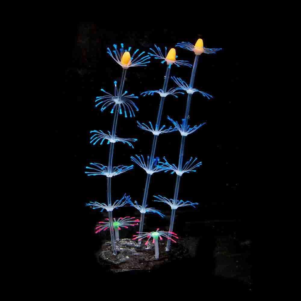 Silicone Artificiale di simulazione Acquario fluorescente effetto coral Fish Tank Piante Ornamento Fiori di Paesaggio Della Decorazione di Acqua erba