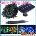 1 unids Impermeable 40 m 400 LED Solar Luces de la Secuencia luz de Navidad Del Banquete de Boda Tira llevada Del Jardín Decoración Del Árbol de Hadas