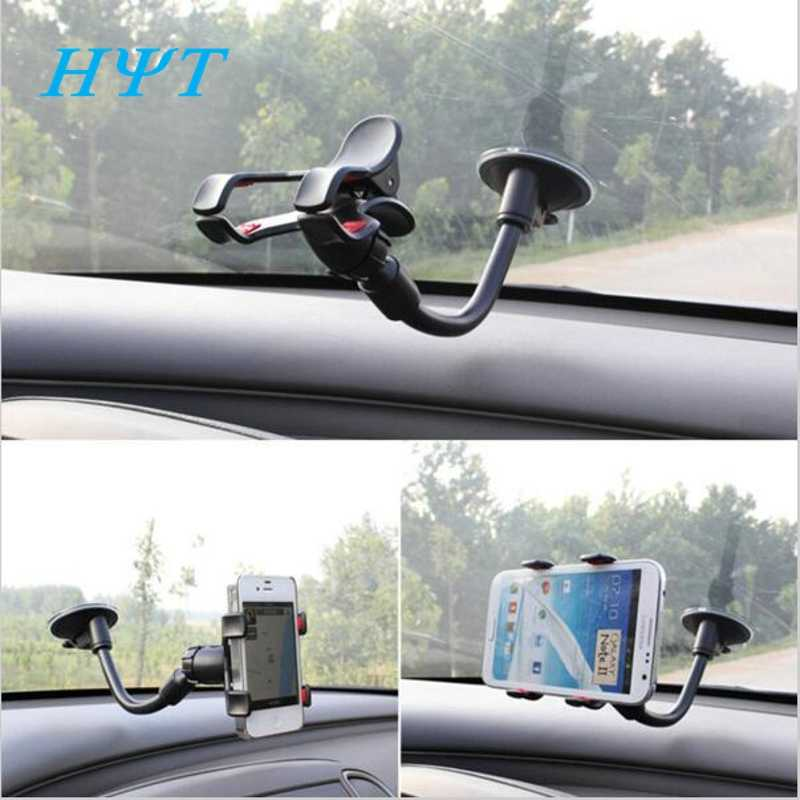 Car Phone Holder Mounted on Dashboard Window Windshield Suction Cup Phone Clips For iPhone 5 5S 6 6s 7 Samsung 360 Rotating